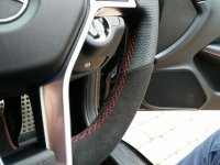 W204 amg - slighlty thicker, perforated sides, Black alcantara top-bottom, Red stitching 3