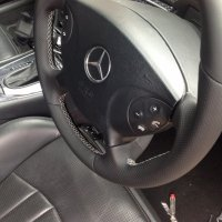 W211 early E55 AMG - Slighlty thicker, Perforated leather on sides, Nappa top-bottom, silver stitching 2