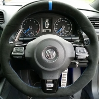 Golf mk6 GTI - Perforated sides, alcantara 9040 topbototm, Yellow stitching 2 - Copy