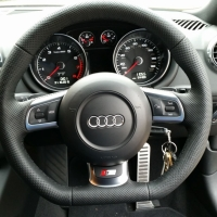 Audi S3, TT mk2 - slightly thicker, Perforated leather, Black stitching 1