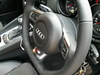 Audi S3, TT mk2 - slightly thicker, Perforated leather, Black stitching 2