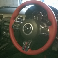 Mazda MX5 mk3 - thicker, thumb grips added, red nappa leather, red stitching 1.jpg