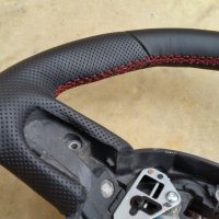 Mini R56 - padded, perforated sides, nappa top-bottom, red stitching 2
